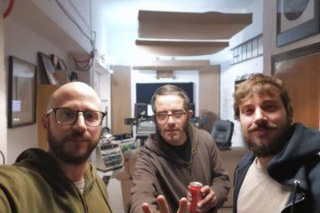 Lanzallamas grabación del disco Sin Cabeza en Estudio Hukot
